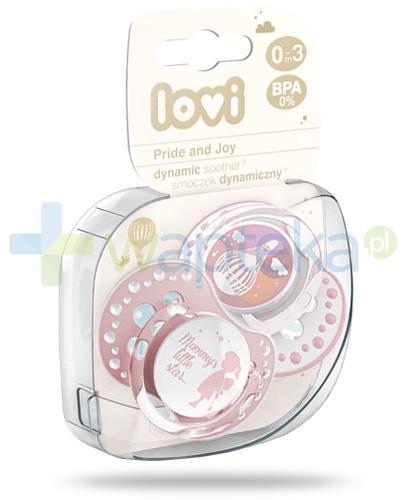 Lovi Pride&Joy dynamiczny smoczek silikonowy dla dzieci 0-3mc 2 sztuki [22/844Girl]