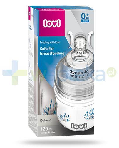 Lovi Trends Botanic butelka dla dzieci 0m+ 120 ml z dynamicznym smoczkiem Anti-Colic [21/586]