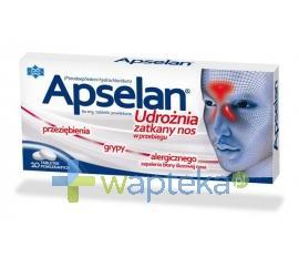 Apselan tabletki powlekane 0,06 g 10 tabletek USTAWA!
