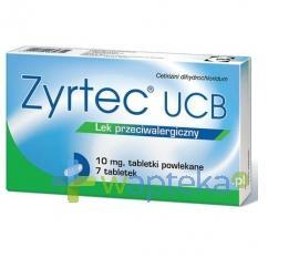 Zyrtec UCB 0,01 g 7 tabletek