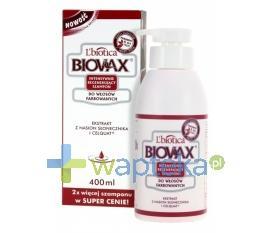 BIOVAX Szampon intensywnie regenerujący włosy farbowane 400ml
