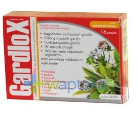 Gardlox pastylki ziołowe o smaku pomarańczy 16 sztuk