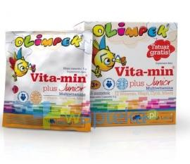 OLIMPEK Vita-Min Plus  multivitamina malinowa 15saszetek