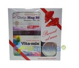 Olimp Vita-min Plus z luteiną i zieloną herbatą 30 kaps + Chela Mag B6 +  świeczka