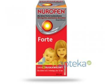 Nurofen Forte 40mg/ml zawiesina dla dzieci o smaku truskawkowym 50 ml