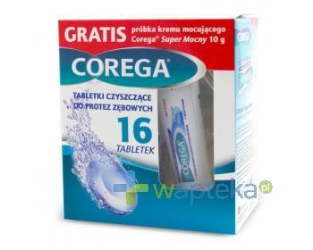 Corega 16 Tabs + Corega krem Super Mocny 10g
