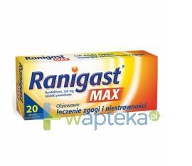 Ranigast MAX 150mg 20 tabletek