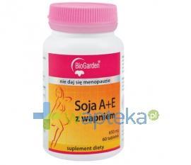 Soja A+E z wapniem 60 tabletek