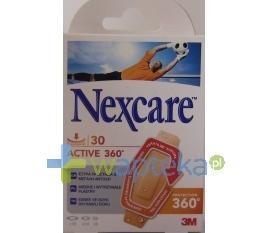 Plastry Nexcare ACTIVE 360 30 sztuk