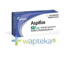 Aspifox 75 mg 56 tabletek - Data ważności 31-12-2017
