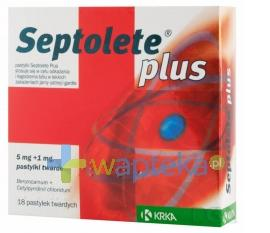 Septolete Plus 18 pastylek