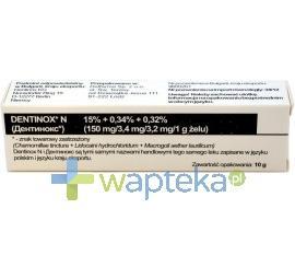 Dentinox N żel na dziąsła 10 g imp.