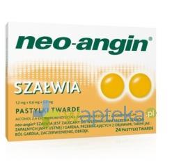 Neo-Angin Szałwia pastylki 24 sztuki