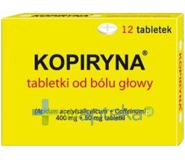 Kopiryna od bólu głowy 0,4g+0,05g 12 tabletek
