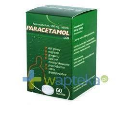 Paracetamol LGO tabl. 0,5 g 60 tabletek