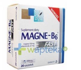 Magne B6 Fast 20 saszetek granulat doustny