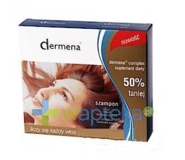DERMENA Szampon zapobiegający wypadaniu włosów 200 ml + DERMENA Complex 30 kapsułek
