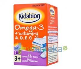 Kidabion o smaku czarnej porzeczki 30 kapsułek do żucia