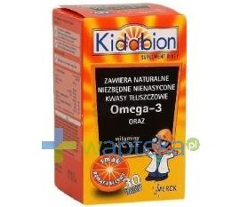 Kidabion o smaku pomarańczowym 30 kapsułek do żucia