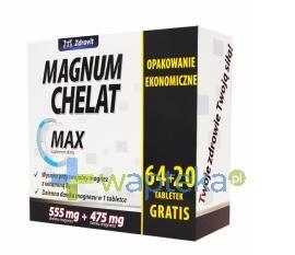 Zdrovit Magnum Chelat Max 64 tabletki + 20 tabletek gratis