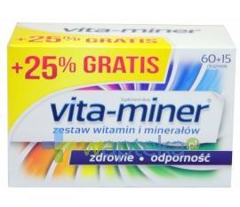 Vita-Miner drażetki 75 sztuk (60 +15 drażetek)