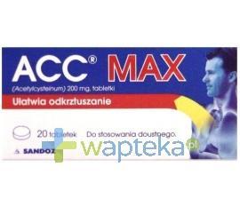 ACC MAX 0,2 g 20 tabletek