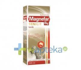 Magnefar B6 Senior Tonik płyn 500 ml - Krótka data ważności 31-01-2017  WYPRZEDAŻ