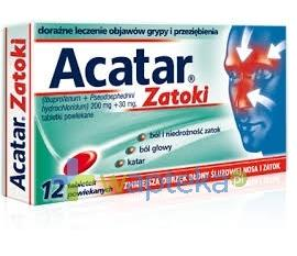 Acatar Zatoki 12 tabletek USTAWA!