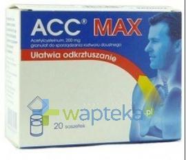 ACC MAX 200mg 20 saszetek