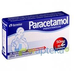 Paracetamol czopki Farmina 50 mg 10 sztuk