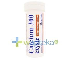 Calcium 300 czyste hypoalergiczne 10 tabletek musujących UNIPHAR