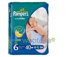 Pampers pieluchy Active Baby 6 Extra Large 15+ kg 40 sztuk
