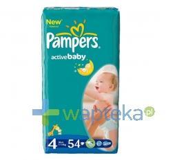 Pampers pieluchy Active Baby 4 Maxi 7-14 kg 54 sztuki