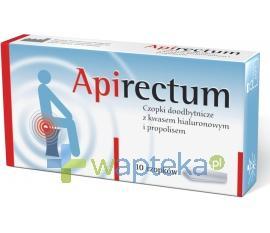 Apirectum Czopki propolisowe z kwasem hialuronowym 10 sztuk (Femi-Lab)