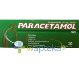 Paracetamol LGO tabl. 0,5 g 10 tabletek
