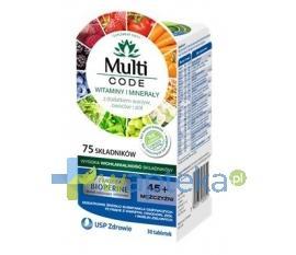 Multi CODE Mężczyźni 45+ 30 tabletek