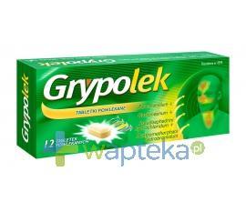 Grypolek tabletki powlekane 12 sztuk (2 blistry po 6 sztuk) USTAWA!