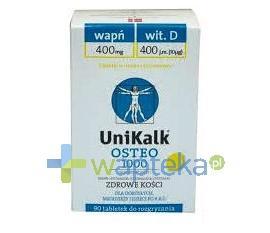 Unikalk Osteo Cytrynowy 90 tabletek do rozgryzania