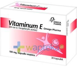 Vitaminum E 100mg 30 kapsułek elastycznych OMEGA PHARMA