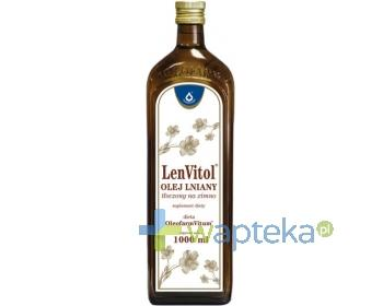 Olej lniany tłoczony na zimno LenVitol 1000ml