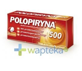 Polopiryna 500mg 20 tabletek