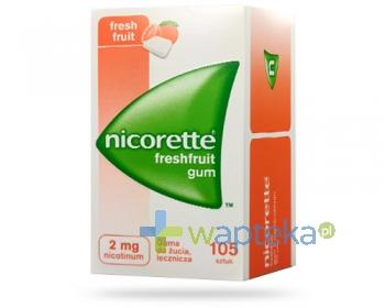 Nicorette Fresh Fruit 2mg 105 gum do żucia - Data ważności 31-10-2017