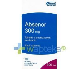 Absenor tabletki o zmodyfikowanym uwalnianiu 300mg 100 sztuk