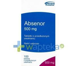 Absenor tabletki o zmodyfikowanym uwalnianiu 500mg 100 sztuk