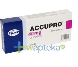 Accupro 40 tabletki powlekane 40mg 30 sztuk
