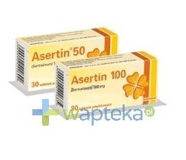 Asertin 50 tabletki powlekane 50 mg 30 sztuk