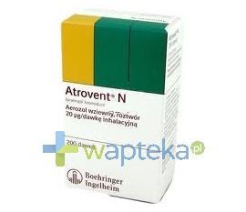 Atrovent N aerozol wziewny (20 mcg / dawkę) 200 dawek 10 ml