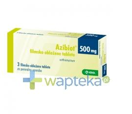 Azibiot tabletki powlekane 500 mg 3 sztuk