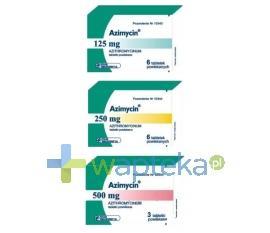 Azimycin tabletki powlekane 250 mg 6 sztuk