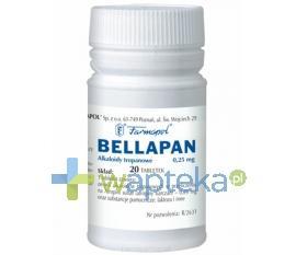 Bellapan tabletki 0,25 mg 20 sztuk